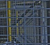 schody przemysłowe Zakończenie Przemysłowy żelazny schody Tło Makro- wizerunek może używać jako tło Dodaje HDR Obrazy Stock
