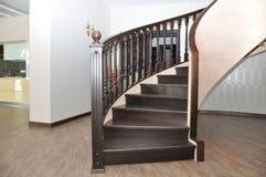 Schody sztuka Nouveau Ślimakowaty schody w domu Obraz Stock