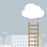 Schody w chmury Fotografia Stock
