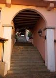 Schody w małej ulicie w Porto Rotondo Obraz Royalty Free