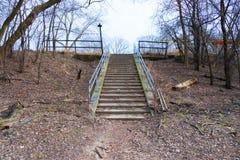 Schody w parku Zdjęcie Stock