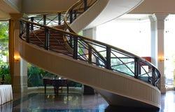 Schody wśrodku xxx hotelu Obrazy Royalty Free
