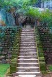 Schody w Sigiriya królewiątka kasztelu zdjęcie royalty free