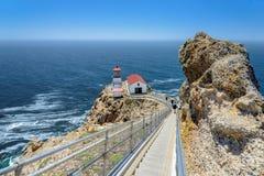 Schody Wskazywać Reyes latarnię morską Fotografia Royalty Free