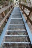 Schody z metali schodkami Obraz Stock