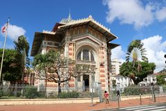 Schoelcher图书馆,堡垒de法国,马提尼克岛 免版税库存照片