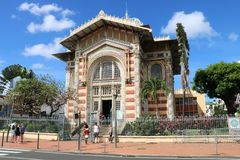 Schoelcher Library, Fort de France, Martinique. Schoelcher Library Bibliotheque, in Fort de France, the capital of Martinique, the overseas department of France Royalty Free Stock Photos