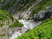 The Schoelenen Gorge in Switzerland Royalty Free Stock Images
