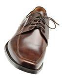 Schoen een bruin leer Stock Afbeelding