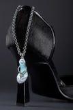 Schoen met juwelen Stock Afbeeldingen