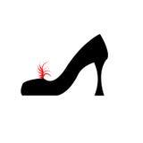 Schoen met weg Stock Afbeelding