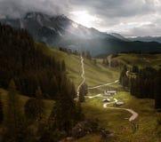 Schoenau w mgle, Niemcy Fotografia Stock