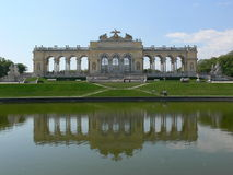 Schoenbrunn castle. Gloriette in the garden of the vienna castle stock photos
