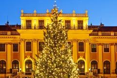 Schoenbrunn justo del castillo de la Navidad, Viena Imagen de archivo
