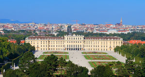 Schoenbrunn pałac Wiedeń Obrazy Royalty Free