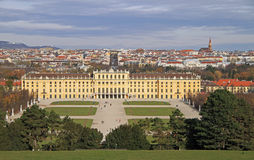 Schoenbrunn palace - former imperial summer residence Royalty Free Stock Images