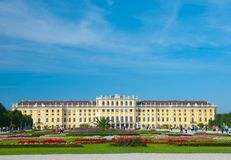 Schoenbrunn Palace in Vienna Stock Image