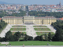 Schoenbrunn palace in Vienna. View from the Gloriette of Schoenbrunn palace in Vienna, and a part of the city Stock Photo