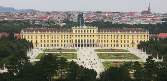 Schoenbrunn Palace in Vienna, Austria Stock Photography