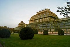 Schoenbrunn Palm Hause in the garden Vienna Royalty Free Stock Images