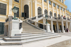 Schoenbrunn Sissi城堡-维也纳 免版税库存图片
