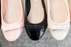 Schoenen in een winkel Royalty-vrije Stock Foto