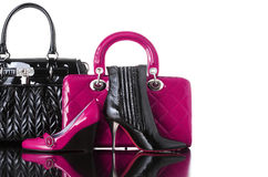 Schoenen en handtas stock afbeelding