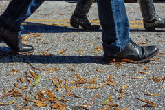 Schoenen en Laarzen het Lopen Royalty-vrije Stock Afbeeldingen