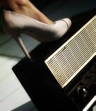 Schoenen en radio Stock Afbeelding