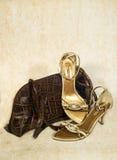 Schoenen en zak royalty-vrije stock foto's