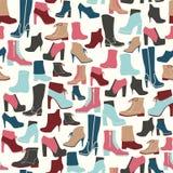 Schoenen naadloos patroon - Illustratie Royalty-vrije Stock Fotografie