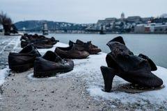 Schoenen op de Donau Royalty-vrije Stock Afbeelding
