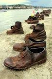 Schoenen op de Donau Stock Foto