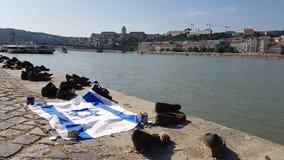 Schoenen op de Donau in Boedapest Royalty-vrije Stock Foto