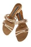 Schoenen op een lage hiel Stock Afbeeldingen