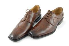 Schoenen op geïsoleerdw royalty-vrije stock foto's