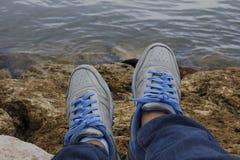 Schoenen op Rork Royalty-vrije Stock Foto