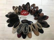 Schoenen op verkoop Royalty-vrije Stock Foto's
