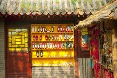 Schoenen van Chinese stijl Royalty-vrije Stock Foto