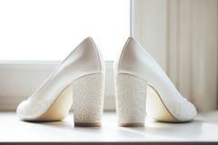 Schoenen van de bruid Stock Afbeelding