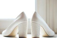 Schoenen van de bruid Royalty-vrije Stock Foto