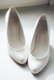 Schoenen van de bruid Royalty-vrije Stock Foto's