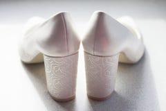 Schoenen van de bruid Stock Fotografie