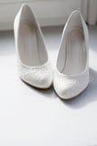 Schoenen van de bruid Stock Foto