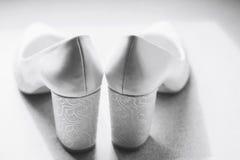 Schoenen van de bruid Stock Foto's