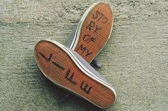 Schoenen van mijn leven stock foto's
