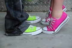 Schoenen van punkmanier Stock Afbeeldingen