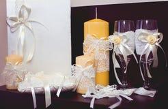 Schoenen van trouwringen de bruids minnaars Royalty-vrije Stock Foto's