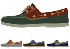 Schoenen in verschillende kleur stock illustratie