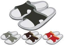 Schoenen in verschillende kleur vector illustratie